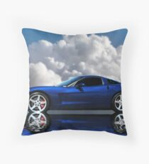 Corvette C6 Profile Throw Pillow