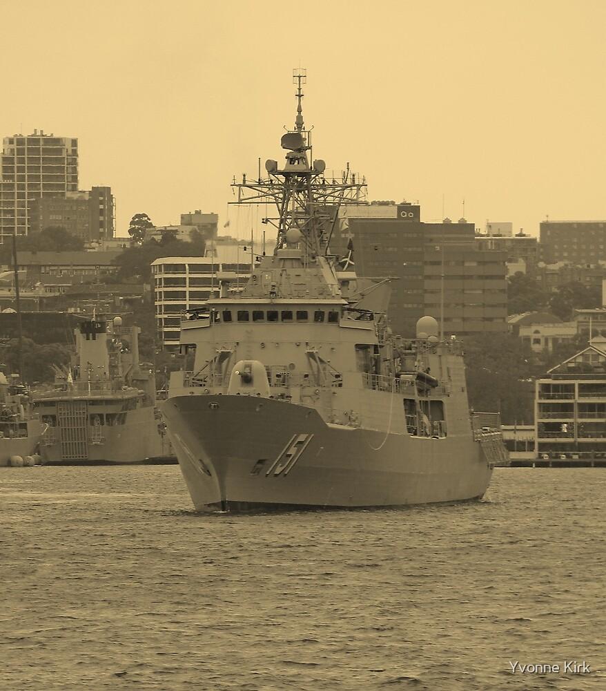 HMAS Arunta by Yvonne Kirk