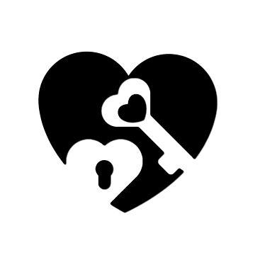 Herz schwarz schlüssel von THELOUDSiLENCE