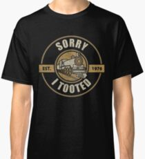 Vintage Railway Sorry I Tooted Train Lovers Classic T-Shirt