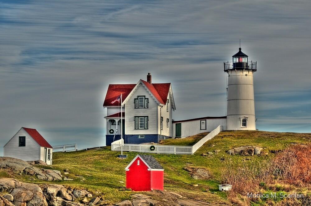 Nubble Lighthouse by Monica M. Scanlan