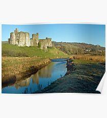 Cydweli Castle Carmarthenshire Poster