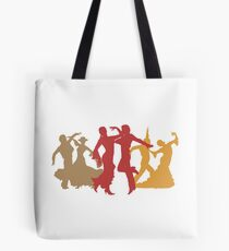 Colorful Flamenco Dancers Tote Bag