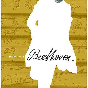 Ludwig van Beethoven 4 (Amarillo) de SUCHDESIGN