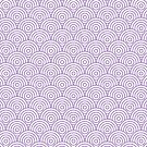Lavender Concentric Circle Pattern  by Cool Fun  Awesome Time