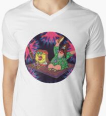 Psychedelic Sponge Men's V-Neck T-Shirt