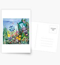 Nigelle dans le jardin Cartes postales