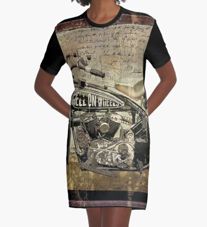 Hell on Wheels Graphic T-Shirt Dress
