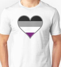 Asexual (Demi) Heart on White T-Shirt