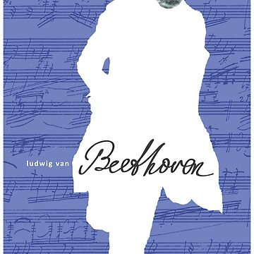 Ludwig van Beethoven 4 (Azul) de SUCHDESIGN
