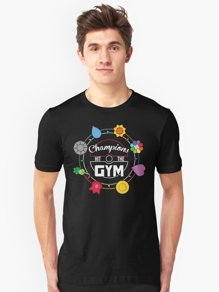 Champions Hit The Gym Unisex T-Shirt Front