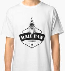 Retro Style Railfan Locomotive Steam Engine Fans Classic T-Shirt