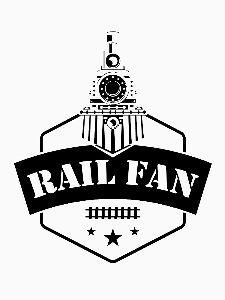 Retro Style Railfan Locomotive Steam Engine Fans by RivieraMojo