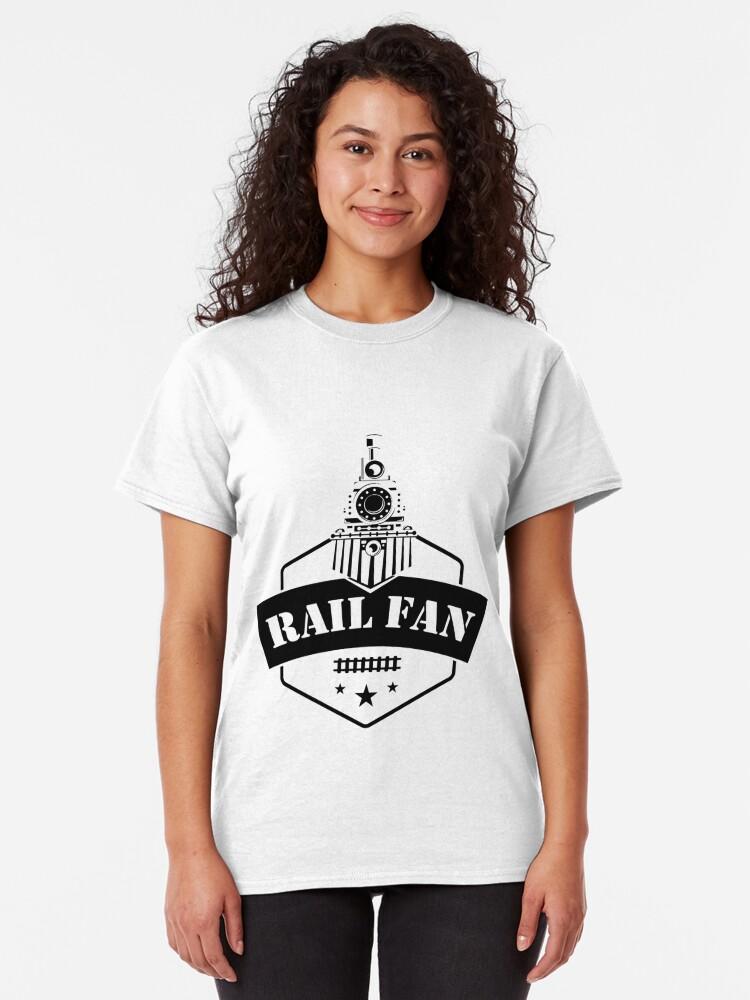 Alternate view of Retro Style Railfan Locomotive Steam Engine Fans Classic T-Shirt