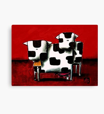 Baby Bull Production Canvas Print