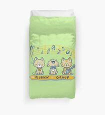 Cute singing kittens Duvet Cover