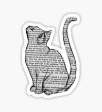 Newspaper Writing Cat Sticker