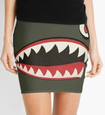 Flying Tigers Nose Art Mini Skirt