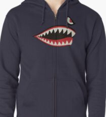 Flying Tigers Nose Art Zipped Hoodie