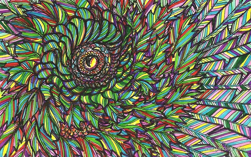 Bright Bird Eye by maryannart-com