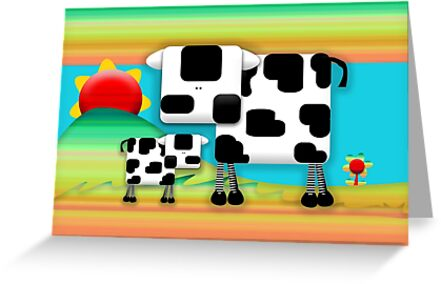 Moo Cow Sunrise Family by © Karin Taylor