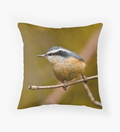 Red Breasted Nuthatch - Ottawa, Ontario Throw Pillow