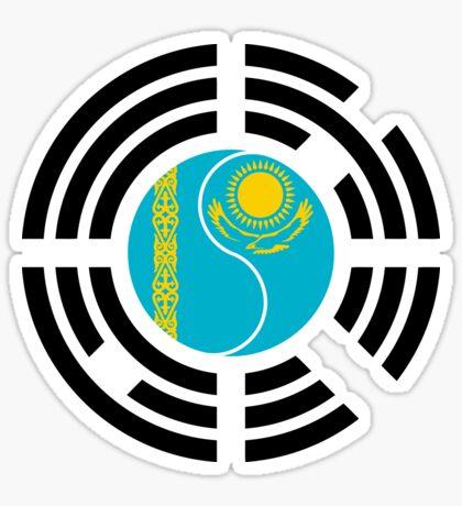 Kazakhstani Korean Multinational Patriot Flag Series Sticker