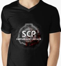 SCP Containment Breach Logo Men's V-Neck T-Shirt