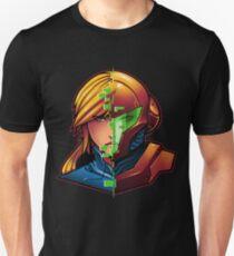 Samus Aran Metroid Zero Suit Face Split T-Shirt
