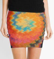Red Hot Spiral Mini Skirt