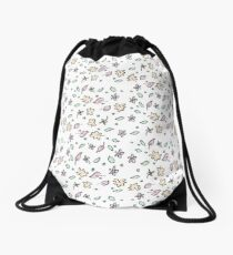 Pretty Happy Pattern Drawstring Bag