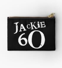 Jackie 60 Classic White Logo on Black Gear Studio Pouch