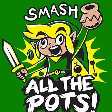 Smash Pots Zelda Link by pierceistruth