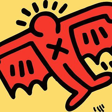 Ilustraciones originales de Flying Devil Icon, íconos, camisetas, estampados, posters, bolsos, para hombres, mujeres, niños, jóvenes de clothorama