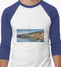 Chalki Harbour Panorama Men's Baseball ¾ T-Shirt