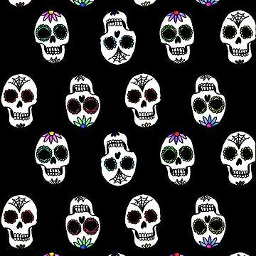 Sugar Skull Pattern by julieerindesign
