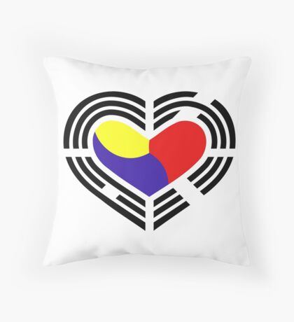 Korean Patriot Flag Series (Heart) Throw Pillow