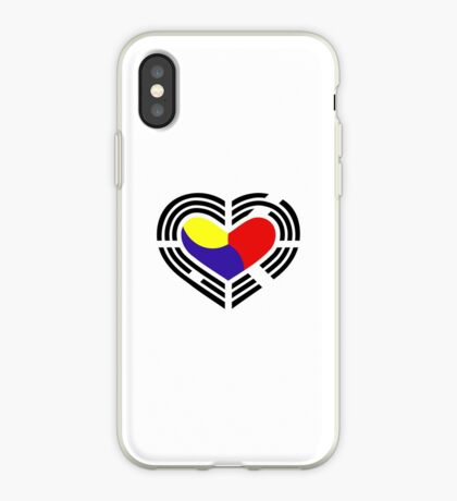 Korean Patriot Flag Series (Heart) iPhone Case