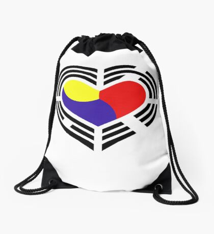 Korean Patriot Flag Series (Heart) Drawstring Bag