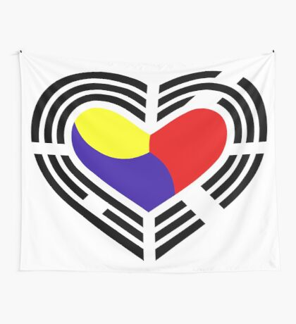 Korean Patriot Flag Series (Heart) Wall Tapestry