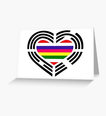 Korean Patriot Flag Series (Heart) Greeting Card