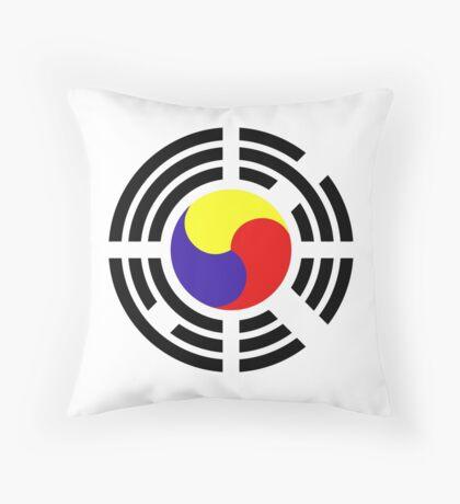 Korean Patriot Flag Series Throw Pillow