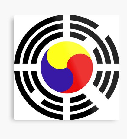 Korean Patriot Flag Series Metal Print