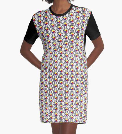 Korean Patriot Flag Series Graphic T-Shirt Dress
