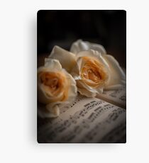 Yellow Roses Canvas Print