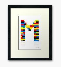 M Framed Print