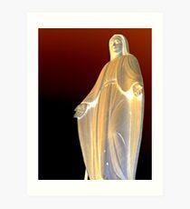 Mother mary Statue at Genova  Art Print