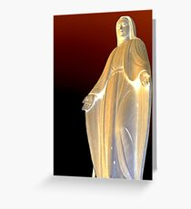 Mother mary Statue at Genova  Greeting Card