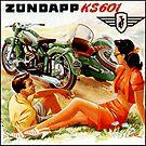 German Zündapp KS601 Motorcycle Advertisement by edsimoneit