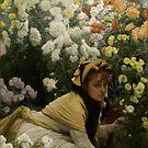 Hiding in the Chrysanthemums by Lisa Marie Mercer